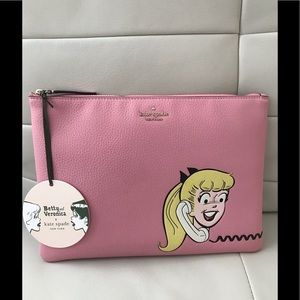 NWT 🎀 Kate Spade Betty & Veronica Large 🎀Clutch